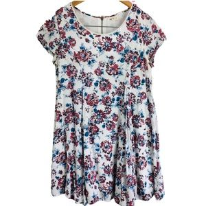 Silence + Noise Floral Witchy Tee Shirt Dress
